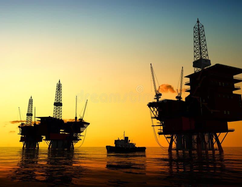 Produktion des Erdöls stock abbildung