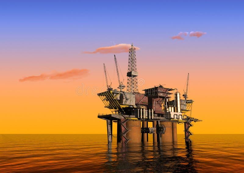 Produktion des Erdöls vektor abbildung