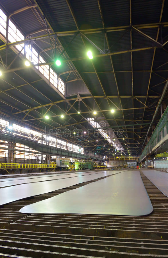 Produktionark av stål arkivbild