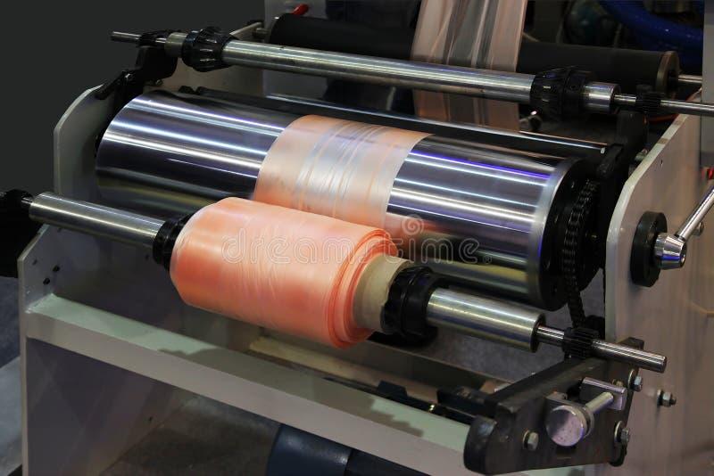 Produktionplastpåse arkivfoto