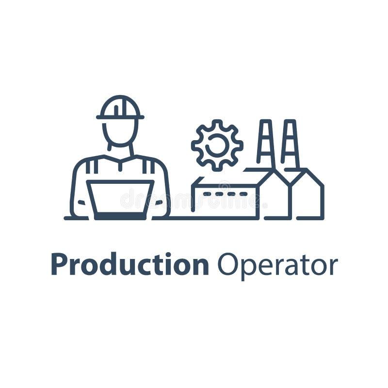 Produktionsarbeiter, Betrieb oder Verwaltung, Herstellerkonzept lizenzfreie abbildung