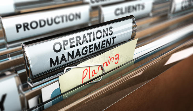 Produktionsverfahren-Organisation, Operations-Management lizenzfreie abbildung