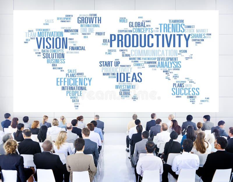 Produktivitäts-Auftrag-Strategie-Wirtschafts-Visions-Konzept lizenzfreie stockbilder