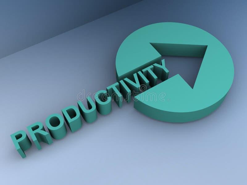 Produktivitet vektor illustrationer