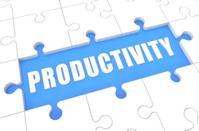 produktivitet stock illustrationer