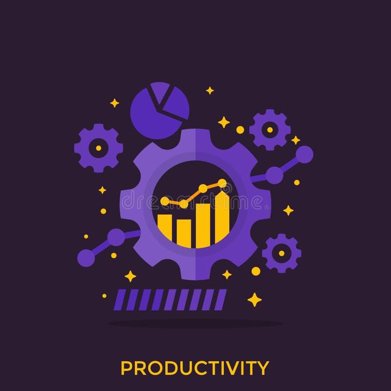 Produktivitet analyticsvektor för produktiv kapacitet royaltyfri illustrationer