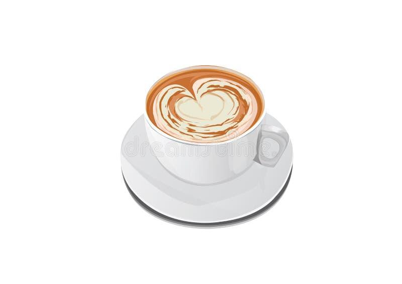 Produktsärdrag - en kopp kaffe royaltyfri illustrationer