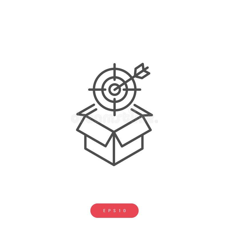 Produktu celu ikony Wektorowy zarządzanie przedsiębiorstwem Odnosić sie wektor Kreskową ikonę Editable uderzenie 1000x1000 piksel ilustracja wektor