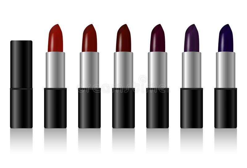 produktu kosmetycznego, kolor pomadki ustawiaj? ilustracji