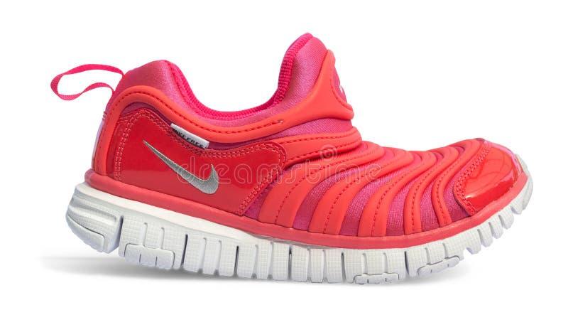Produktu krótkopęd Nike działający but zdjęcia royalty free