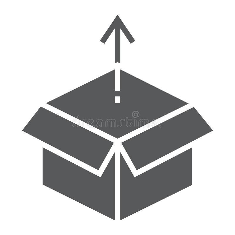 Produktu uwolnienia glifu ikona, rozwój ilustracji