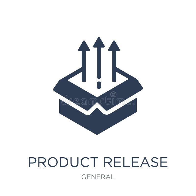 produktu uwolnienia ikona Modna płaska wektorowego produktu uwolnienia ikona dalej royalty ilustracja