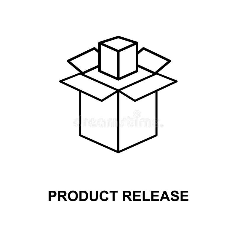 produktu uwolnienia linii ikona ilustracji