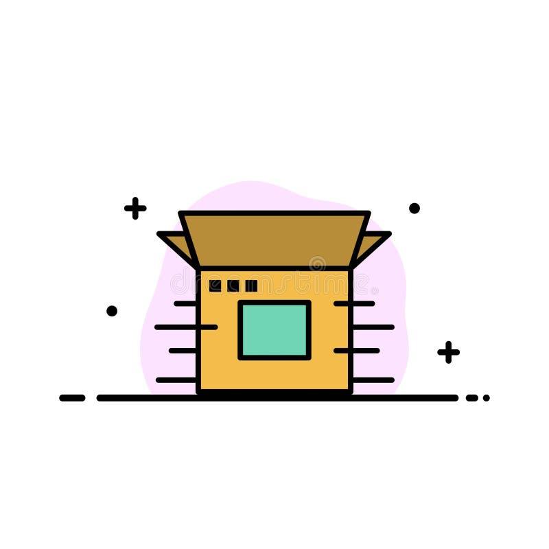 Produktu uwolnienie, biznes, Nowożytny, produkt, uwolnienia mieszkania ikony sztandaru Biznesowa linia Wypełniający Wektorowy sza ilustracji