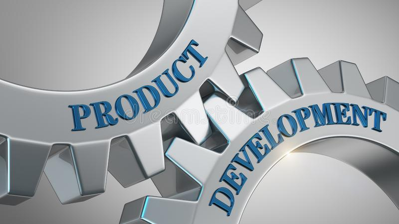 Produktutvecklingbegrepp stock illustrationer