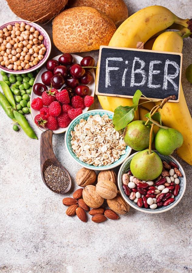 Produkty bogaci w włóknie dietetyczne jedzenie zdrowe zdjęcie royalty free