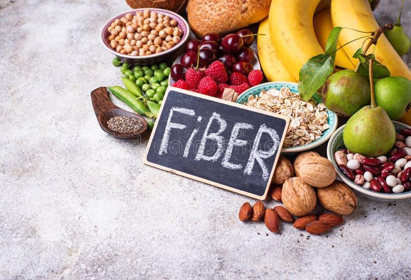Produkty bogaci w włóknie dietetyczne jedzenie zdrowe obraz royalty free