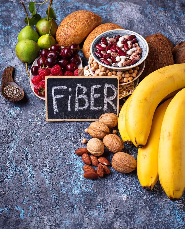 Produkty bogaci w włóknie dietetyczne jedzenie zdrowe obrazy royalty free