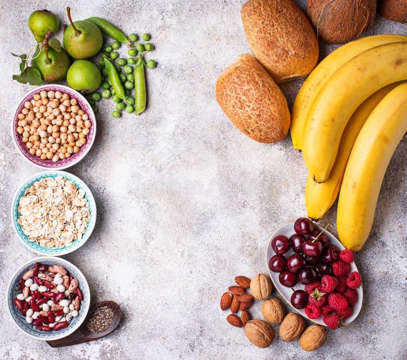 Produkty bogaci w włóknie dietetyczne jedzenie zdrowe fotografia royalty free