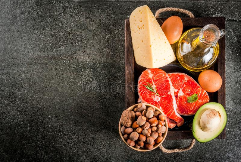 Produkty z zdrowymi sadło zdjęcie royalty free