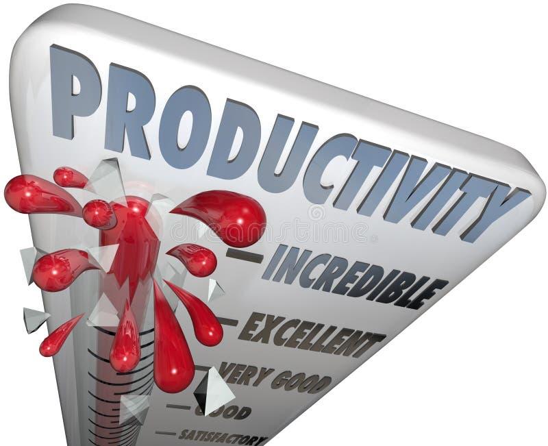 Produktywność termometru wydajności Maksymalna produkcja ilustracja wektor