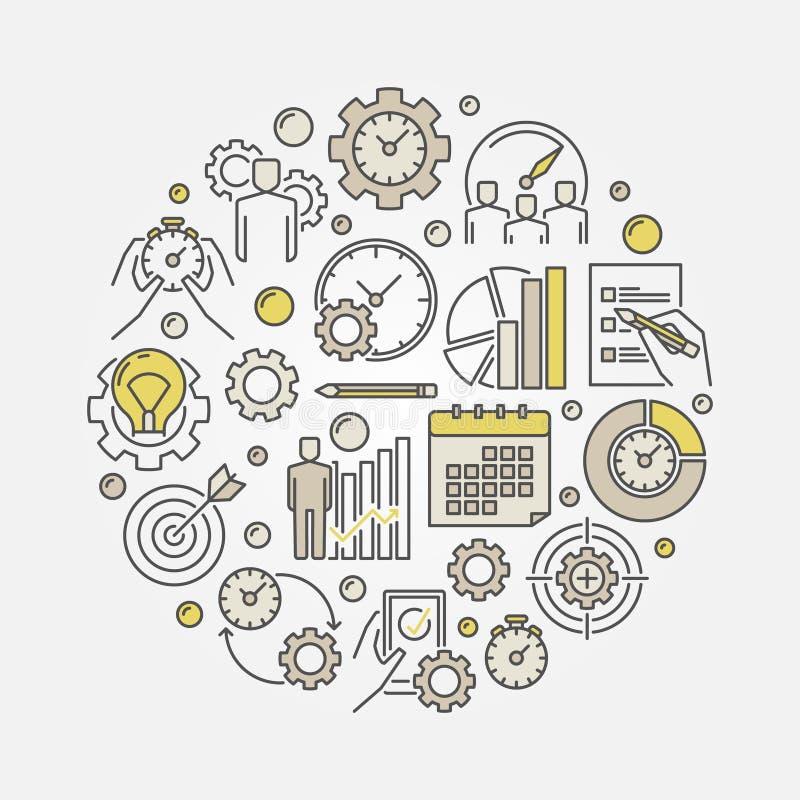 Produktywność wektoru ilustracja royalty ilustracja