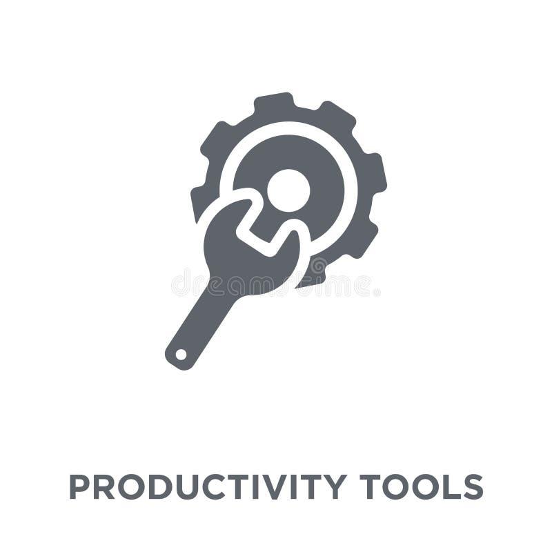 produktywność Wytłacza wzory ikonę od produktywności kolekcji royalty ilustracja