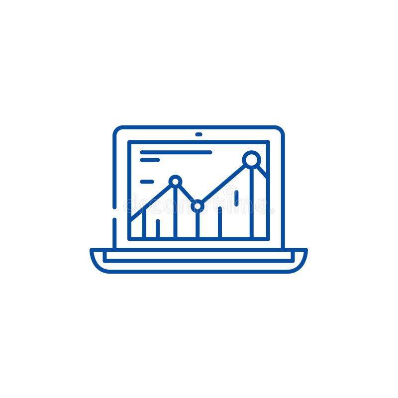 Produktywność wzrosta linii ikony pojęcie Produktywność wzrosta płaski wektorowy symbol, znak, kontur ilustracja royalty ilustracja