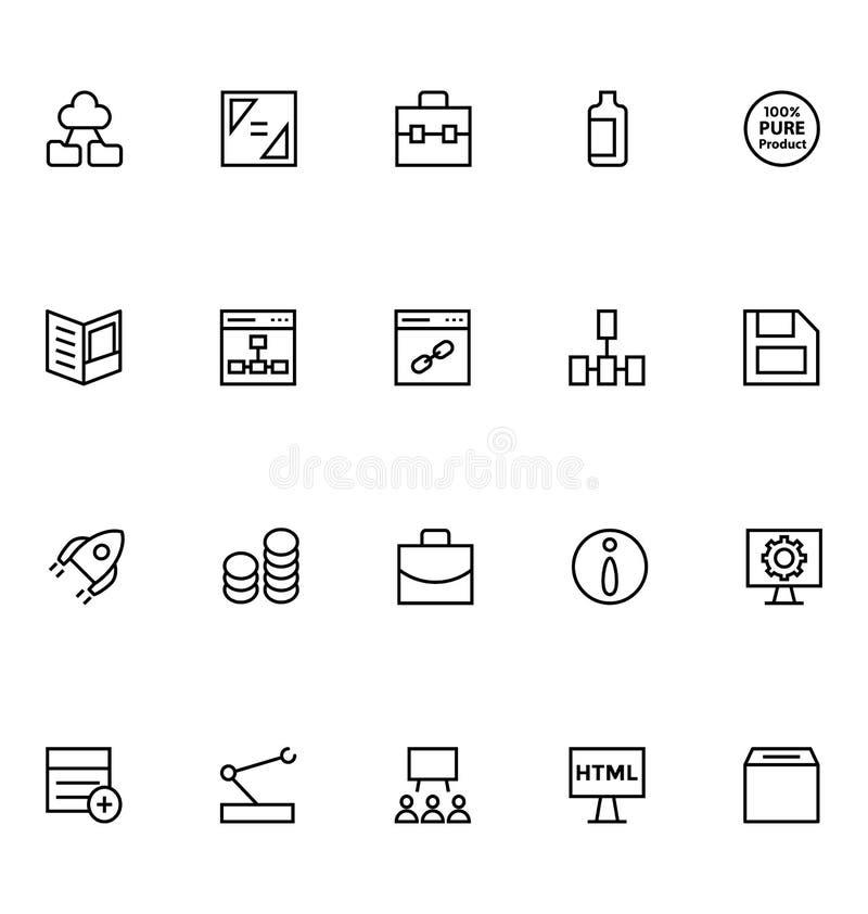 Produktywności i rozwoju Wektorowe ikony 4 royalty ilustracja