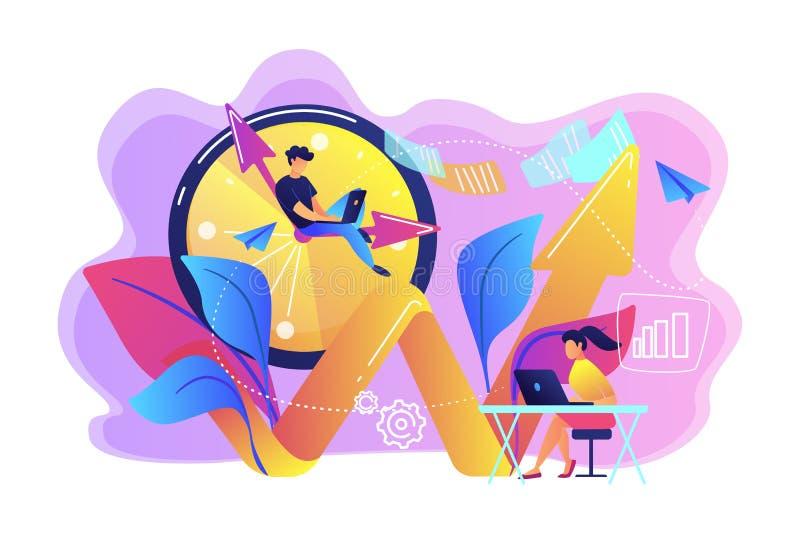 Produktywności pojęcia wektoru ilustracja ilustracja wektor