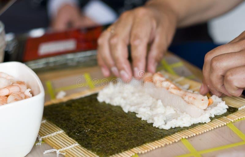 Produrre i sushi fotografia stock