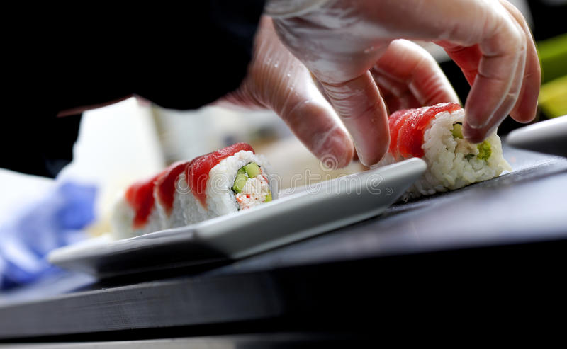 Produrre i sushi fotografie stock