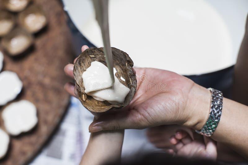 Produrre il dessert della pasta immagini stock libere da diritti