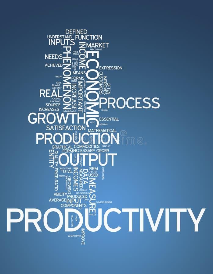 Produtividade da nuvem da palavra ilustração royalty free