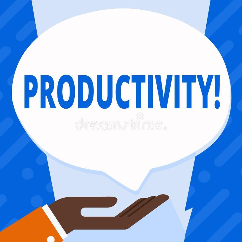 Produtividade do texto da escrita da palavra Conceito do negócio para sucesso do perforanalysisce do trabalho eficaz o grande ilustração stock