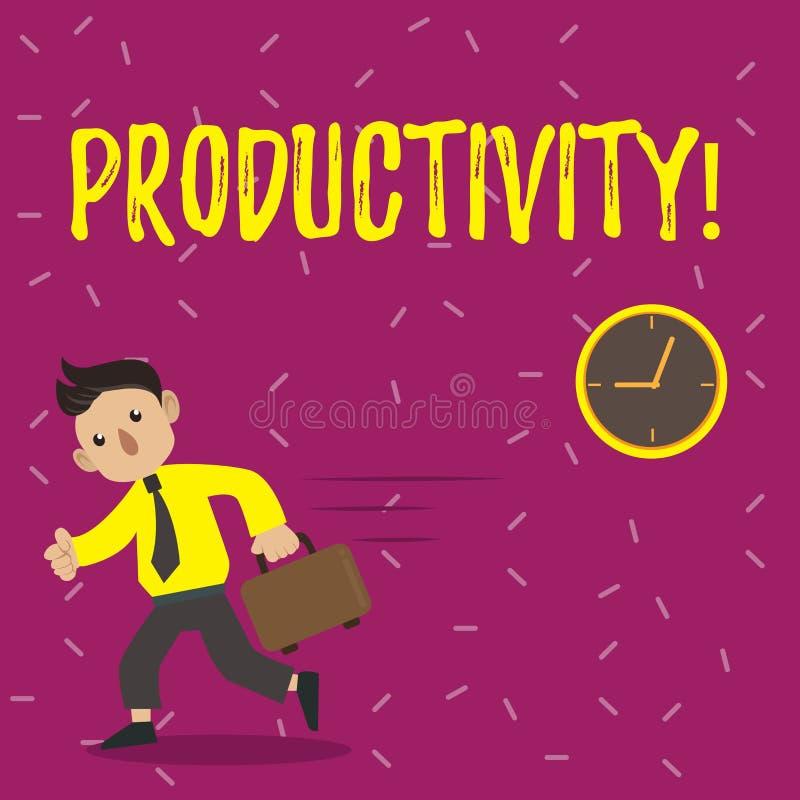 Produtividade do texto da escrita Sucesso do perforanalysisce do trabalho eficaz do significado do conceito grande ilustração do vetor