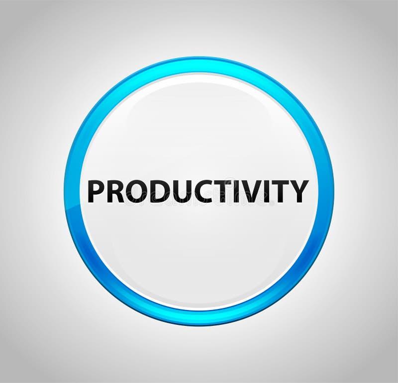 Produtividade em volta da tecla azul ilustração stock