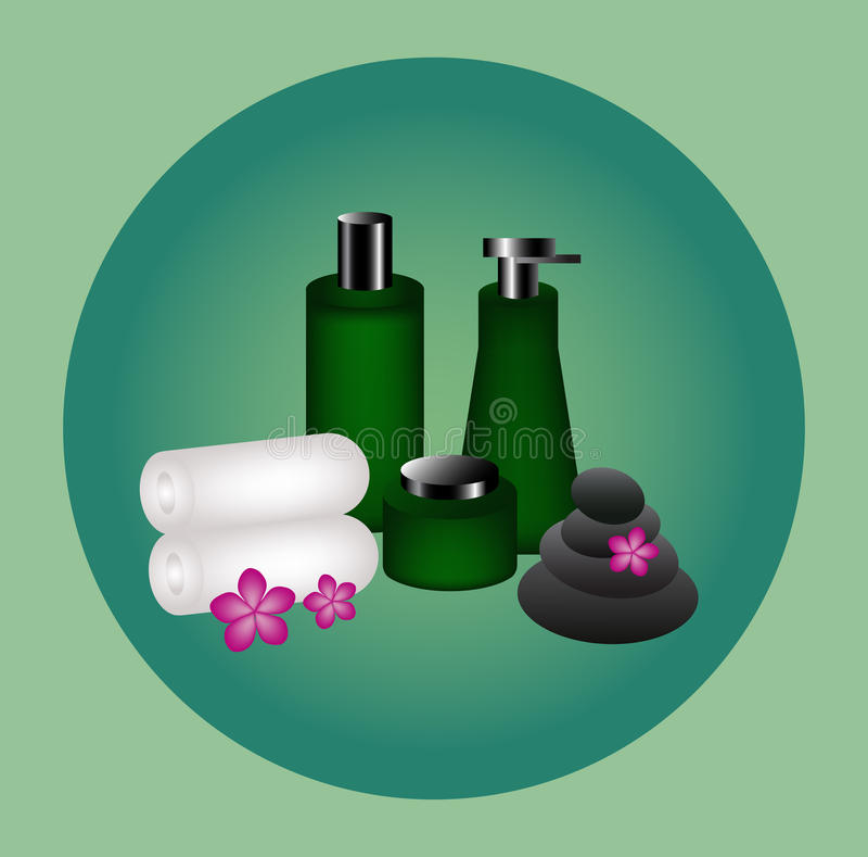Produto da garrafa para o cosmético e os termas ilustração do vetor