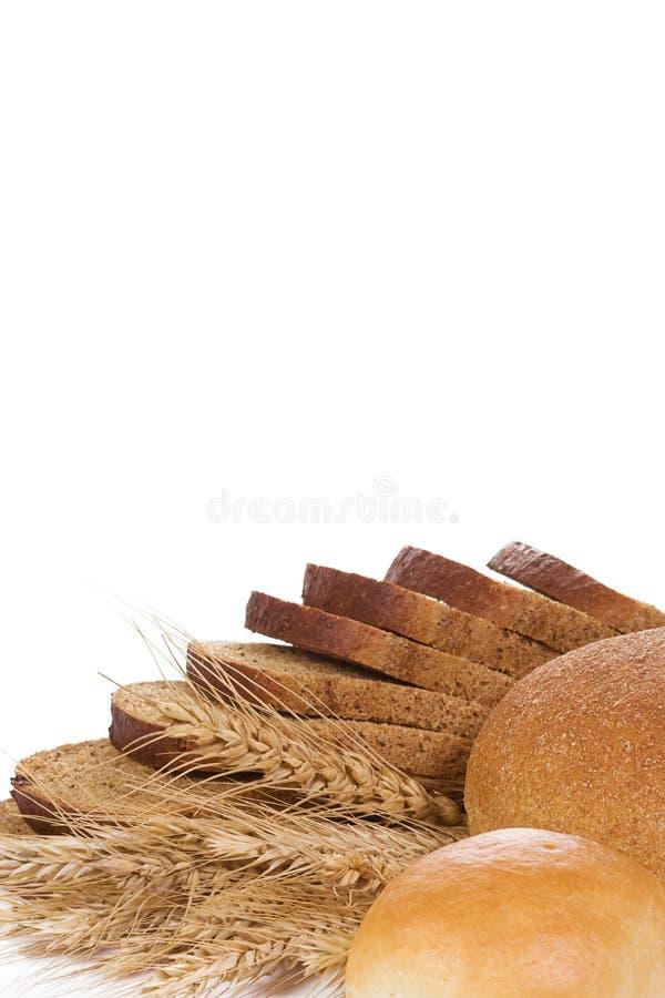 Produto da padaria no branco fotografia de stock