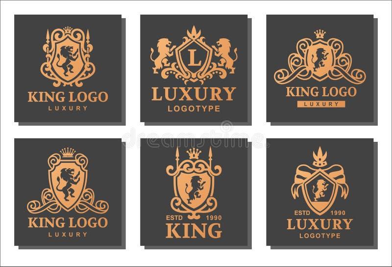 Produto de alta qualidade do vintage da crista real luxuosa do boutique ilustração stock