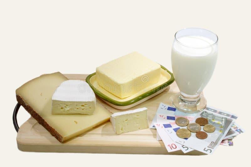 Produto de leite fotografia de stock