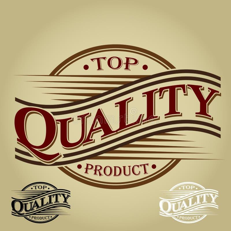 Produto de qualidade superior - selo do vintage ilustração royalty free