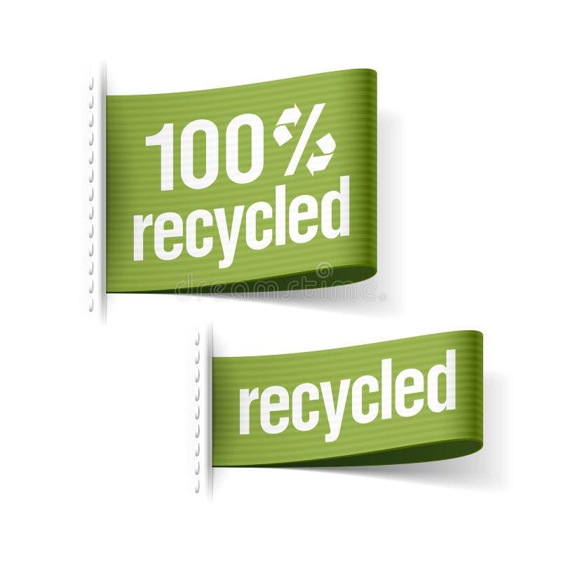 produto reciclado 100% ilustração royalty free