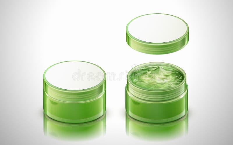 Produto verde do gel ilustração stock