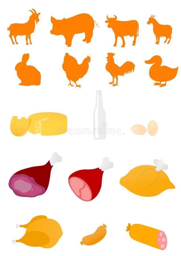 produtos da indústria alimentar ilustração stock