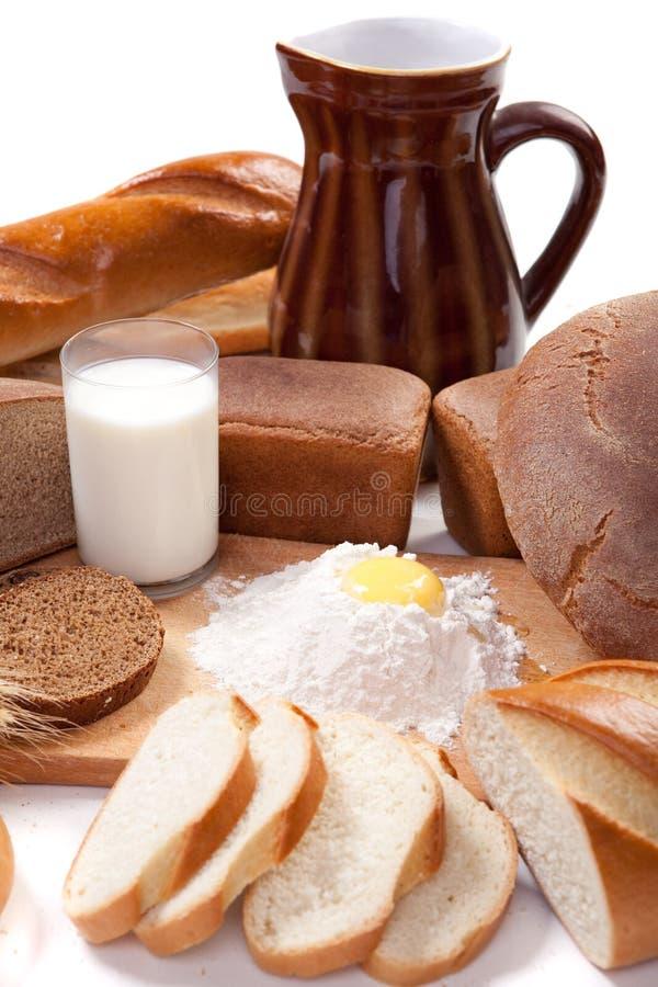 Produtos da padaria do pão fotografia de stock