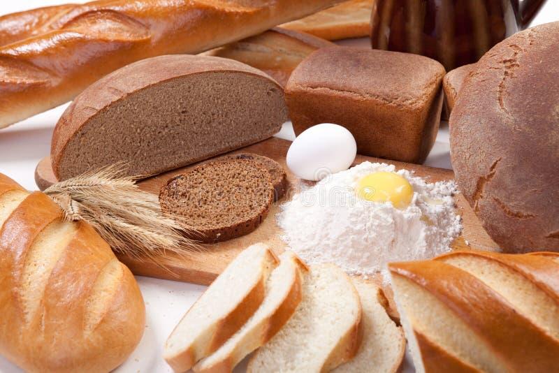 Produtos da padaria do pão imagens de stock