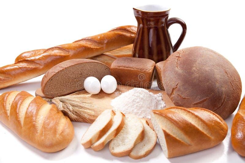 Produtos da padaria do pão fotos de stock royalty free