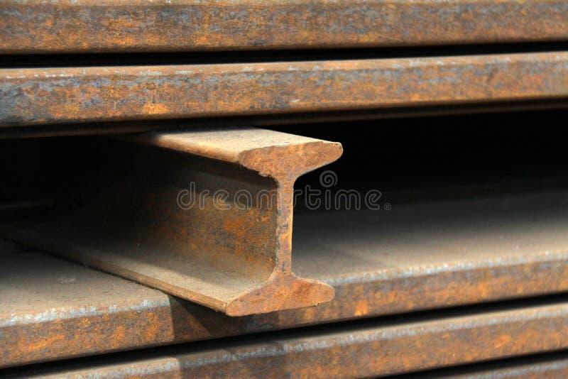 Produtos de aço dos materiais no secção transversal foto de stock