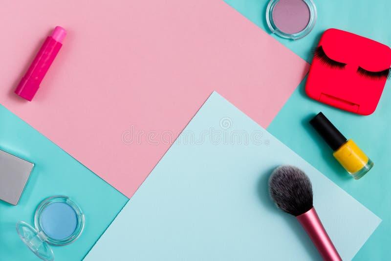Produtos de beleza, composição diária, cosméticos fotografia de stock royalty free